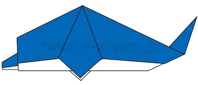 20-2.折り線に沿って中割りおりする。