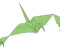 【折り紙】三連の鶴の折り方!すごい・難しい鶴(はなみぐるま)の折り方